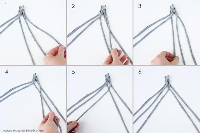 Как из ниток сделать косу