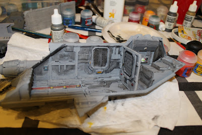 Left side, bulkhead and top assembled