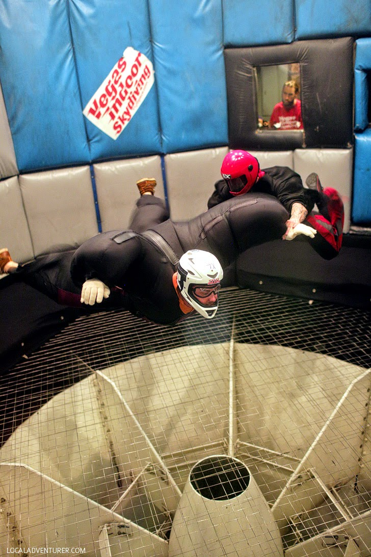 Las Vegas Indoor Skydiving // Las Vegas Activities for Kids.