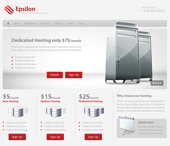 Epsilon WordPress Business Theme