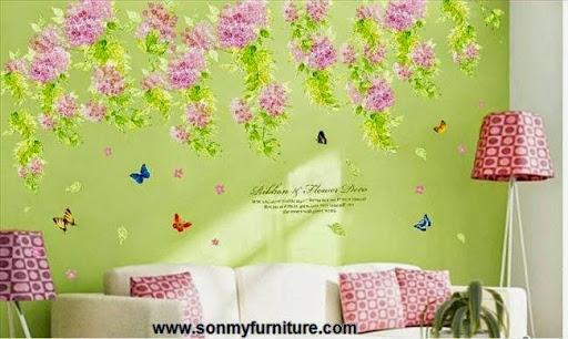 Trang trí nhà đón Tết với giấy dán tường mùa xuân-11
