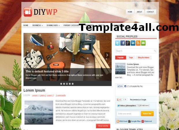 Free News Magazine Blogger Template
