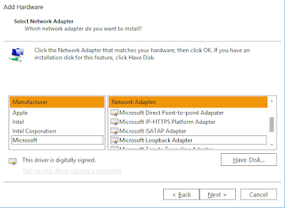 How To Install Microsoft Loopback Adapter in Windows 7