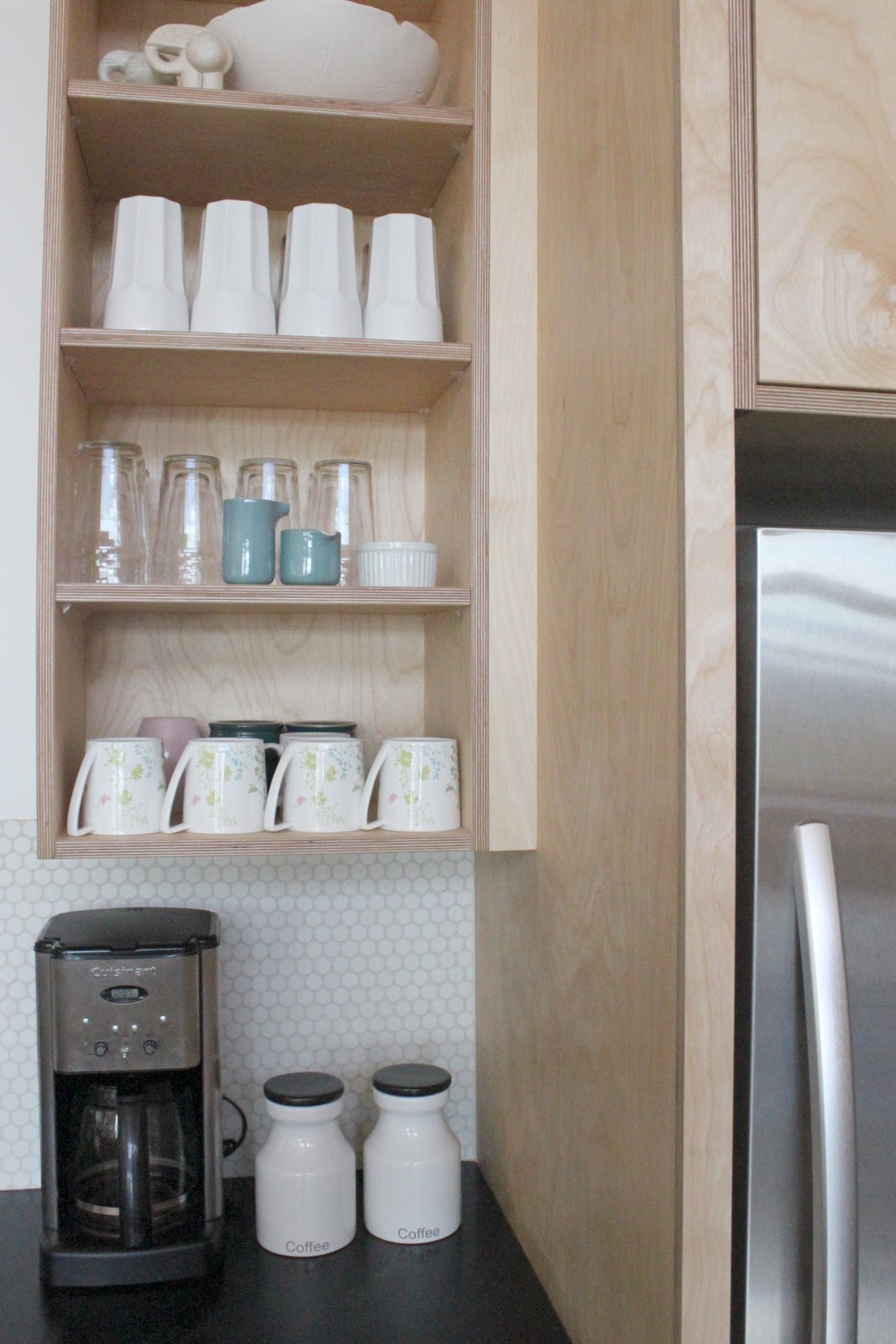 the open shelving a first for me would you do it - Plywood Kitchen Cabinets
