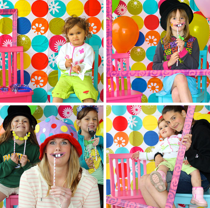 How to set up an easy diy photo booth chickabug ali said that all of her party guests loved the photo booth especially the kids and the photos doubled as a party favor she did quick print outs solutioingenieria Images
