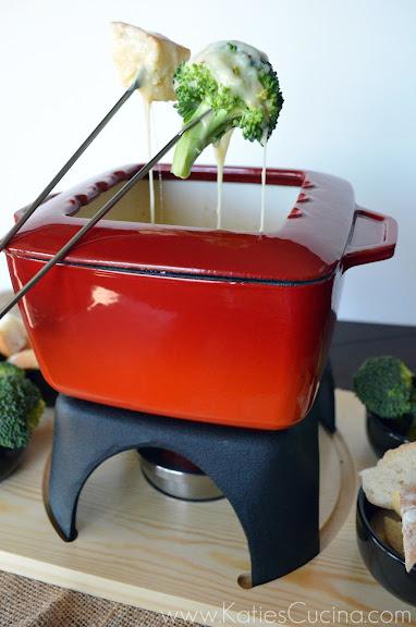 Pepper Jack Fondue | KatiesCucina.com  #FondueWeek #Recipe