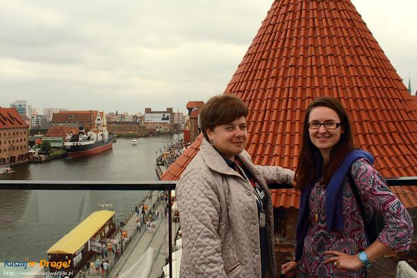 Joanna Kruszewska i Kasia Marczewska na spacerze po Gdańsku