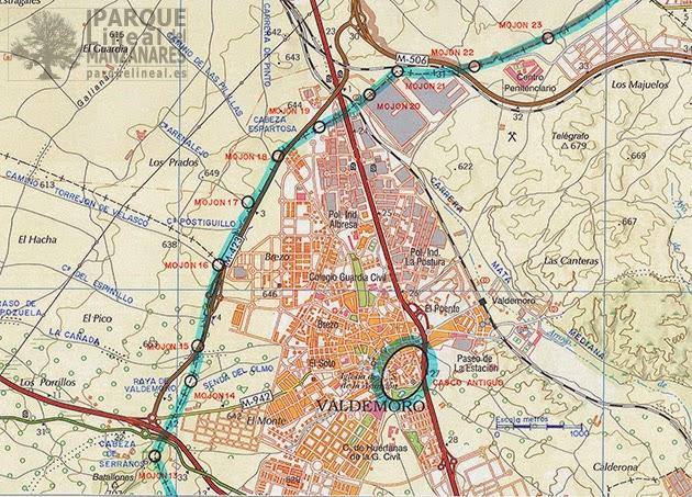 Mapa de la raya de Valdemoro