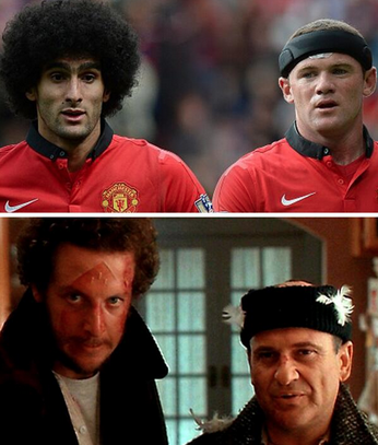 LOLZ picture: Marouane Fellaini & Wayne Rooney in Home Alone
