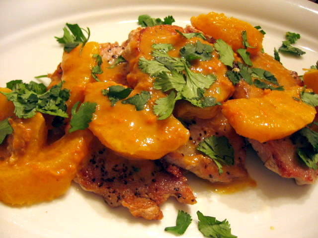 Pork Chops in an Orange Cumin Sauce - Oh my, sweet and earthy at the same time.  Heaven!  Slice of Southern