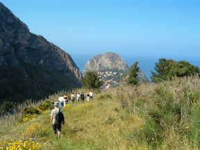 Wandern in Sizilien - Monte Catalfano bei Solunto