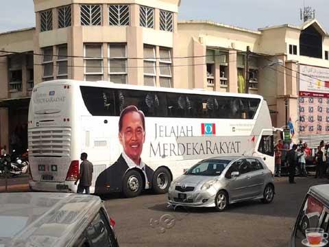 bas jelajah merdeka rakyat