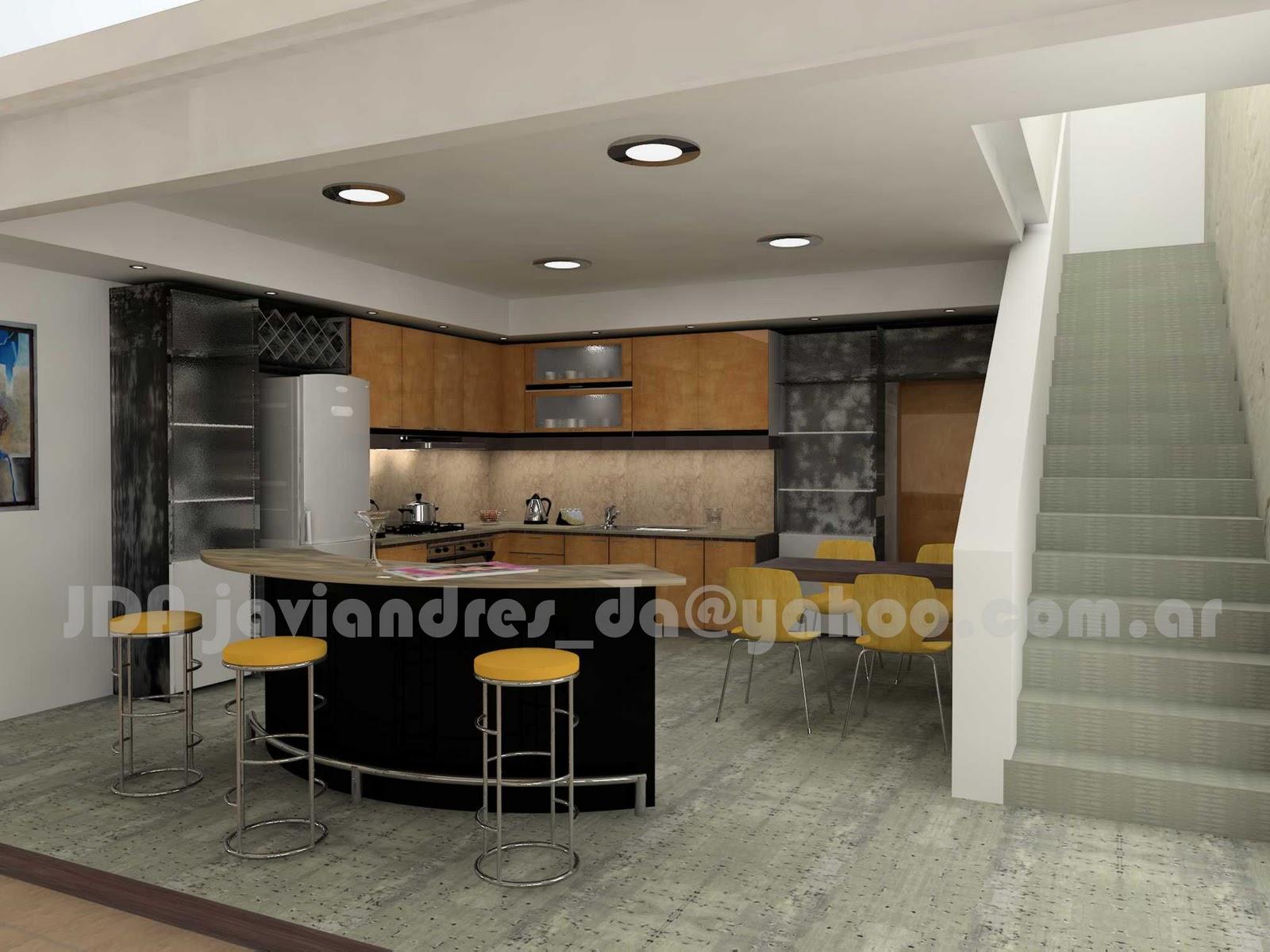 arquitec-maquetas: Cocina minimalista 3d