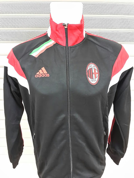 Jaket Ac Milan Hitam List Merah 2014-2015