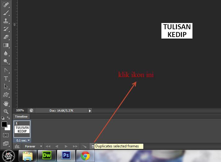 Cara Membuat Gambar Efek Tulisan Berkedip dengan Adobe Photoshop