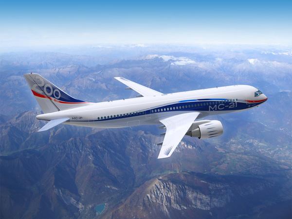 Новая разработка российский пассажирский самолет МС-21