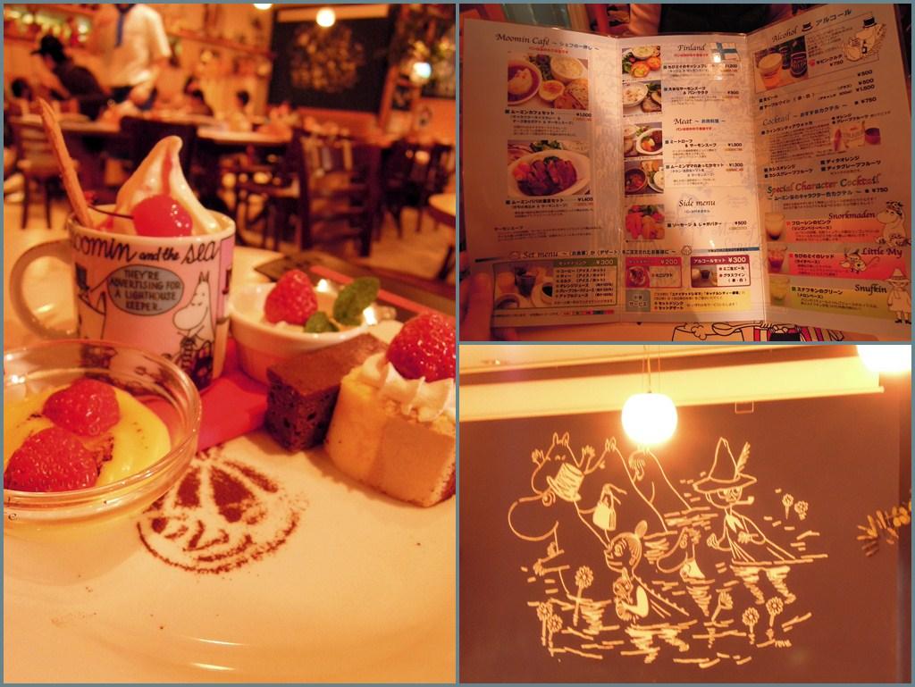 moomin cafe' 店內