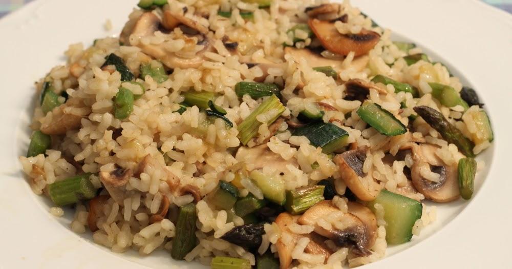 Arroz salteado con esp rragos trigueros calabac n y - Salteado de arroz ...