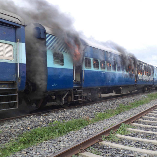The incident triggered angry protests by locals who attacked the train driver and set on fire its coach besides engine of another train at Dhamara Ghat Station in Khagaria district.