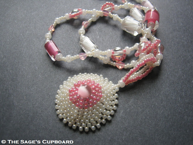 Impossibly Pink Beaded Nipple Pendant