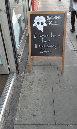 black sheep coffee funny sign london
