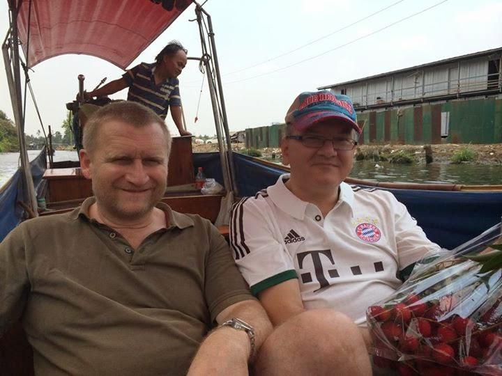 Fahrt durch die Klongs von Bangkok, Kurt Amslinger, Wolfgang Lübeck