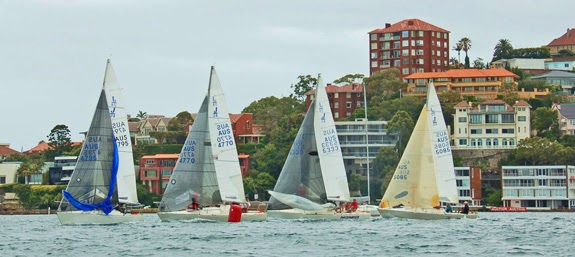 J/24s sailing on Sydney Harbour, Australia