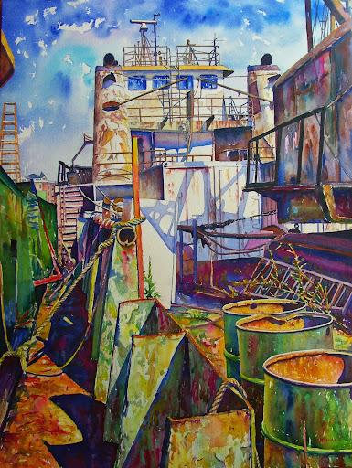 Rust bucket. Artist of the Month: Paul McMahan