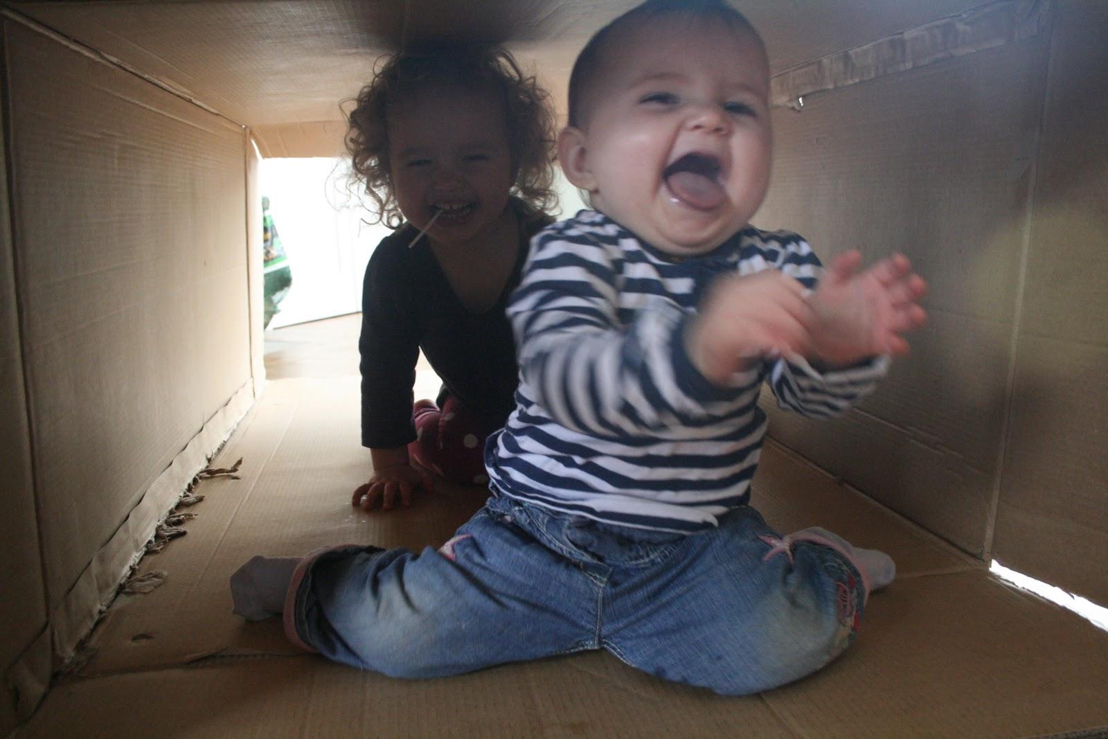 Baby Play Cardboard Box Tunnel