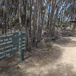 Signpost before toilet Bournda Lagoon (106742)