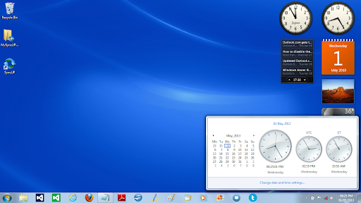 clock for desktop windows 8