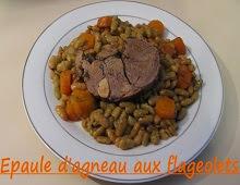 Roti d'épaule d'agneau aux flageolets et carottes
