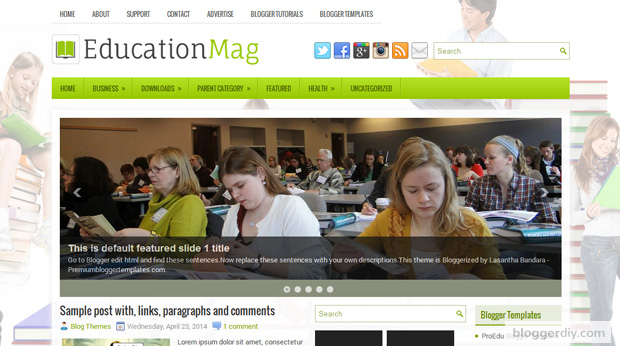 Education Mag Blogger template