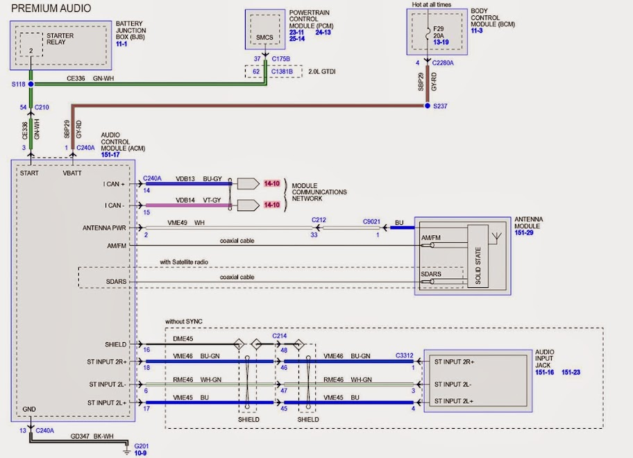 Wiring Diagram for 2014 Ford Taurus SHO w/Sony Sound System - Taurus Car Club of America : Ford Taurus Forum