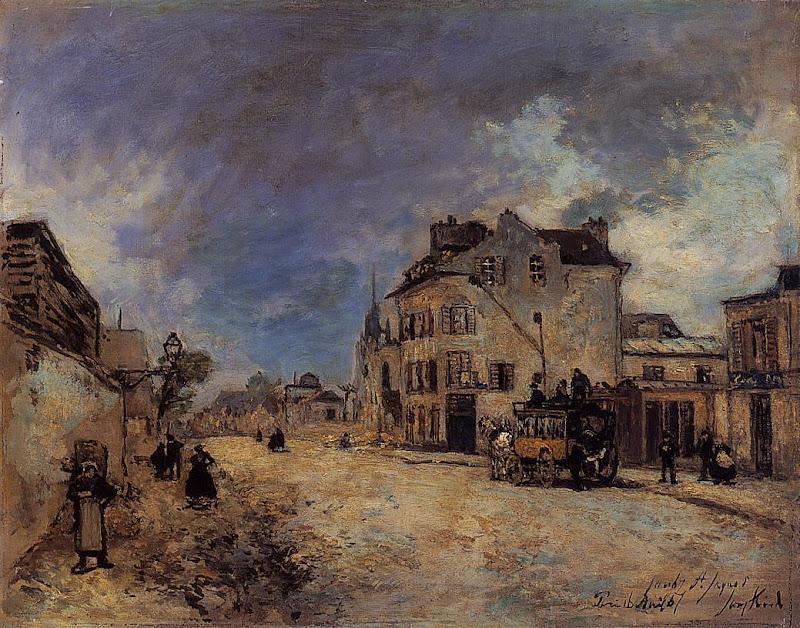 Johan Jongkind - Faubourg Saint-Jacques, the Statecoach
