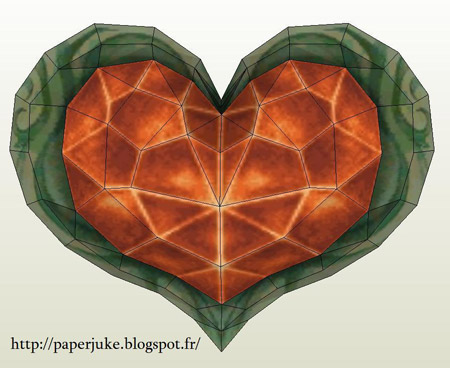 Heart Container Papercraft