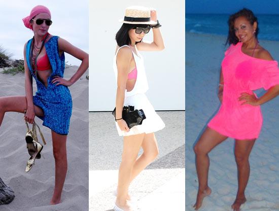 Como usar biquini rosa com vestido