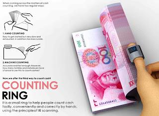 counting ring, cincin penghitung uang