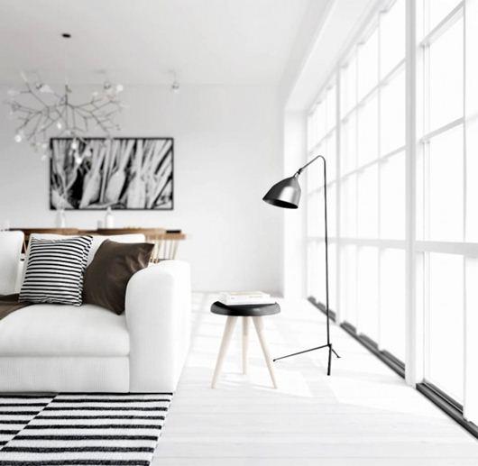 Ngắm thiết kế nội thất tinh khôi kiểu Bắc Âu
