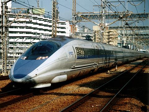 JR西日本 500系「のぞみ」 博多駅にて