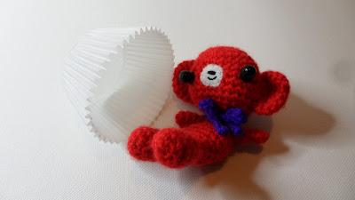 Cute Amigurumi crochet red bear, MJ Henry
