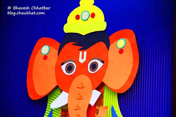 Kala Ghoda - Paper craft of Bal Ganesh