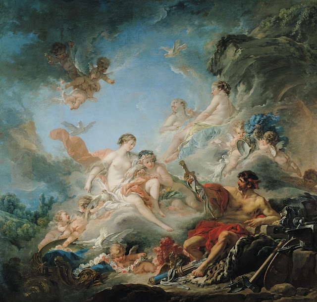 Francois Boucher - Vulcan presenting Weapons for Aeneas to Venus
