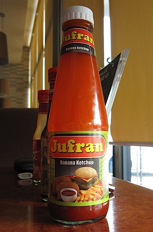 bottle of Jufran banana ketchup