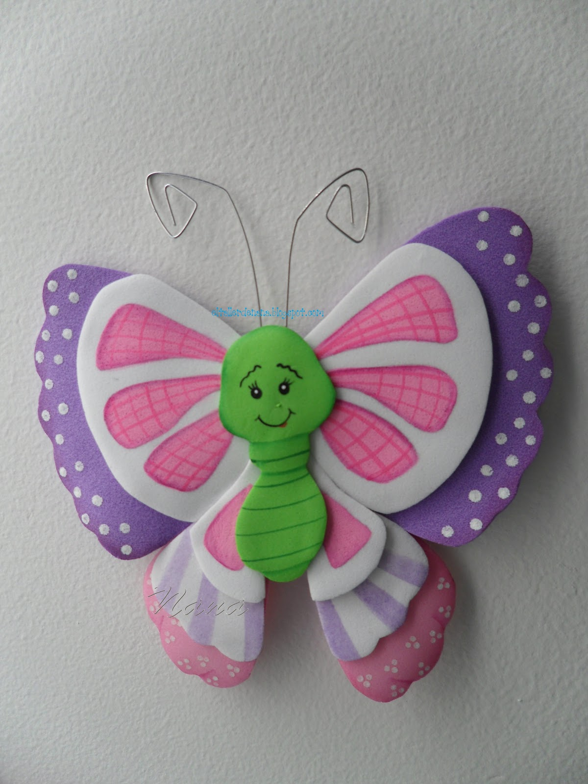 El taller de nana mariposas en foamy - Como hacer mariposas de goma eva ...