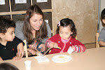 Toddlers serve their own snack at the LePort Schools Parent & Child Montessori.