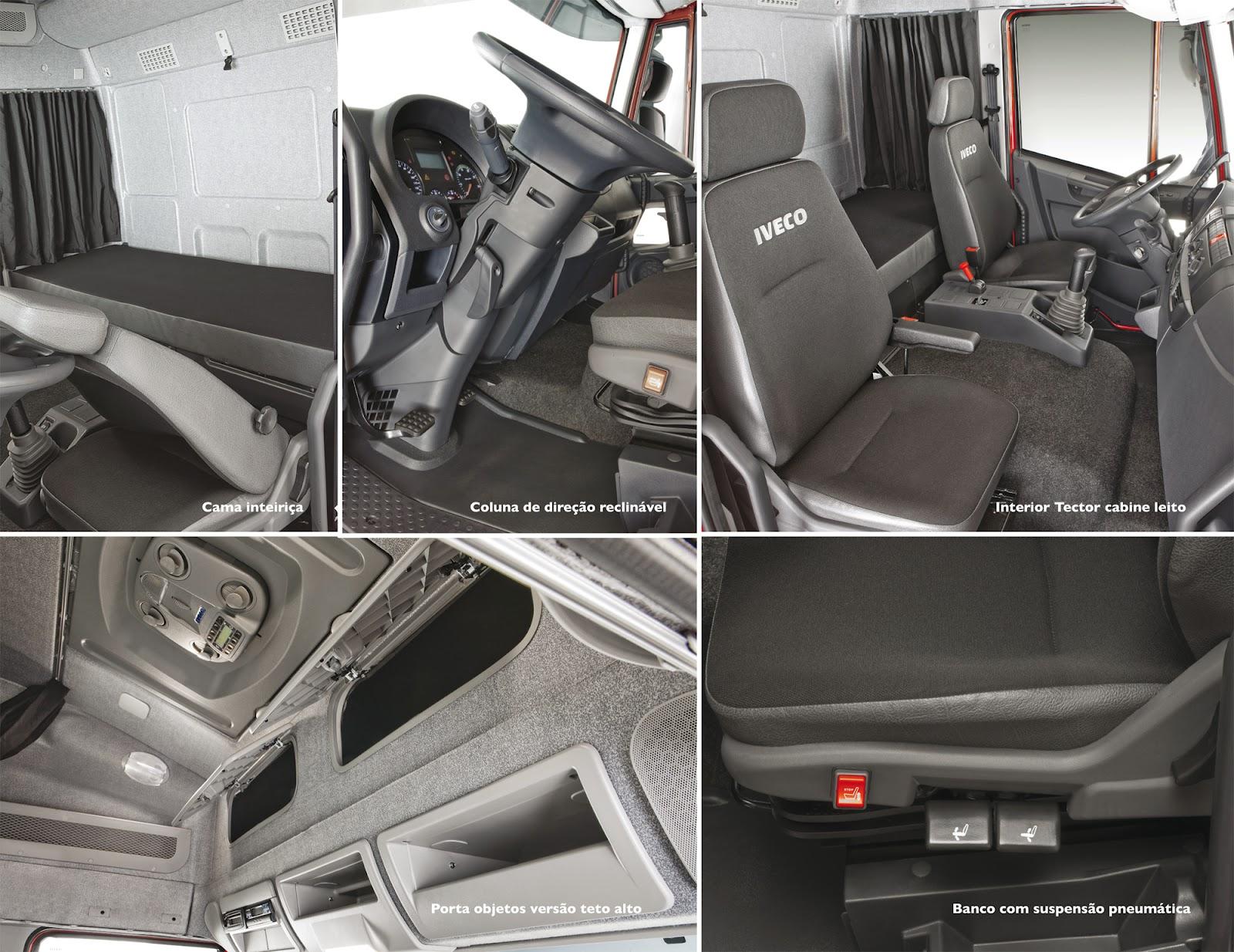 Nova geração Iveco Tector: Alto padrão de conforto, economia e versatilidade no segmento de semipesados conforto tector grande