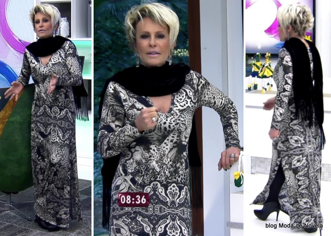moda do programa Mais Você - look da Ana Maria Braga dia 3 de junho