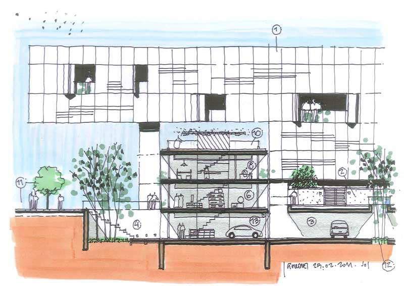Dibujos de arquitecto architect drawings 110225 - Trabajo arquitecto barcelona ...