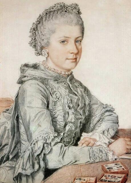Jean-Etienne Liotard - Portrait of Marie-Christine of Austria
